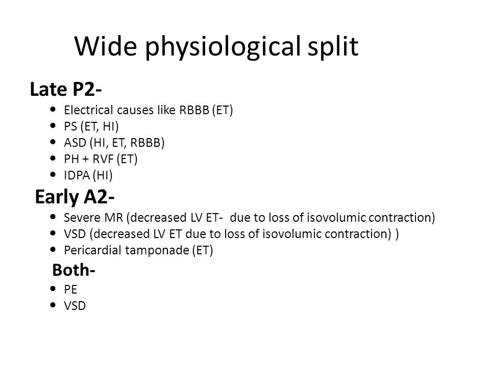 Wide physiological split