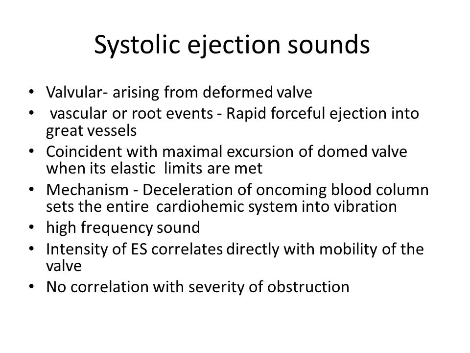 Systolic ejection sounds