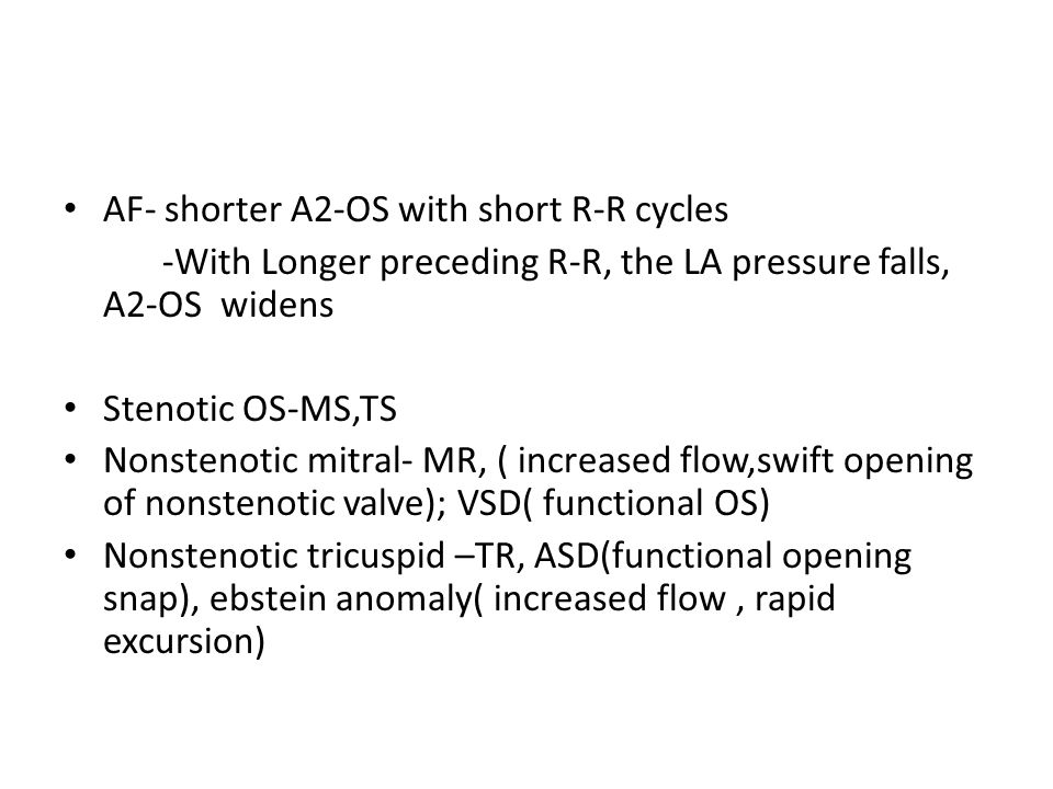 AF- shorter A2-OS with short R-R cycles