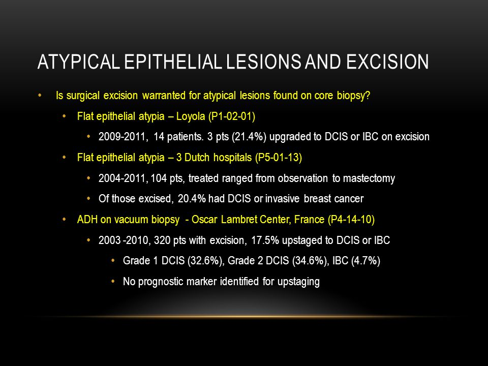 Atypical Epithelial Lesions and Excision