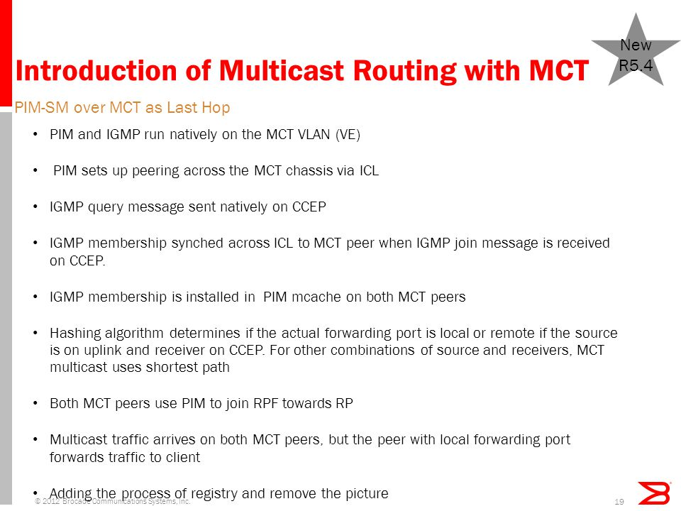 Introduction of Multicast Routing with MCT