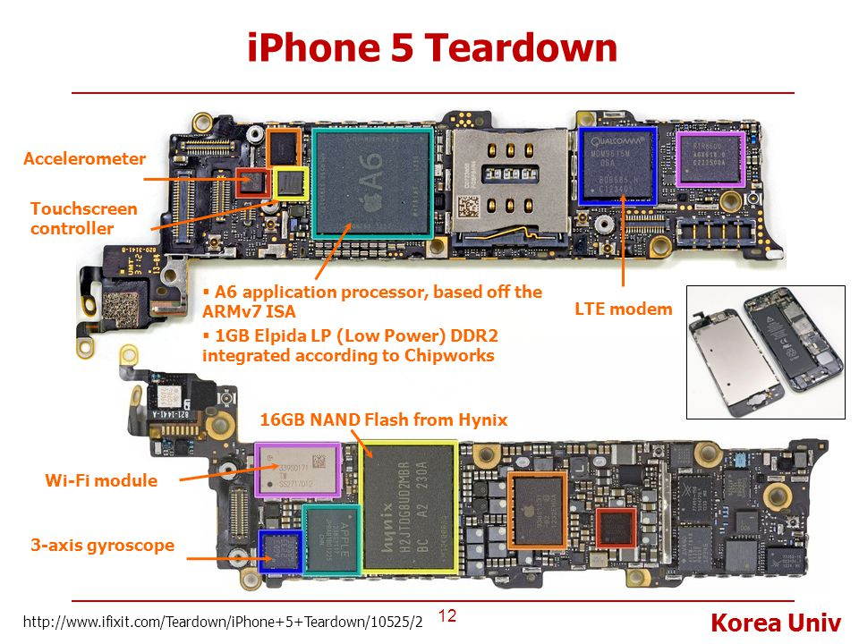 iPhone 5 Teardown Accelerometer Touchscreen controller