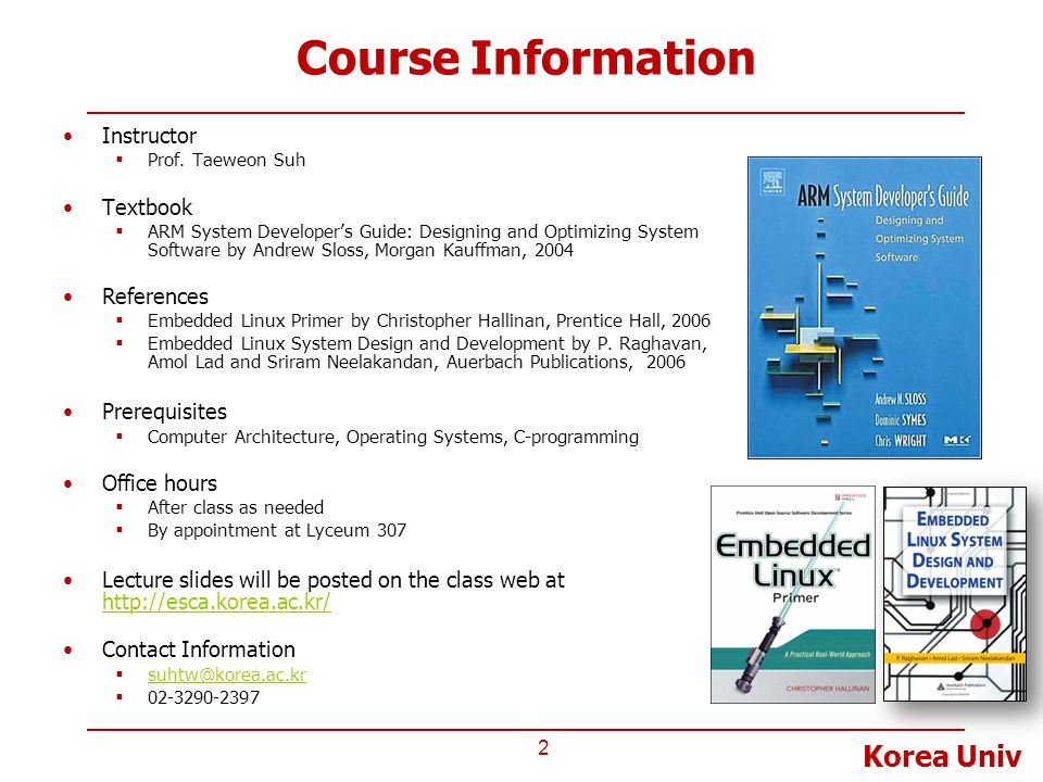 Course Information Instructor Textbook References Prerequisites