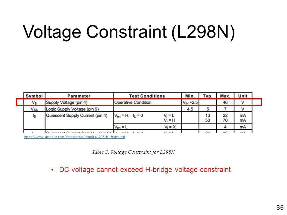 Voltage Constraint (L298N)