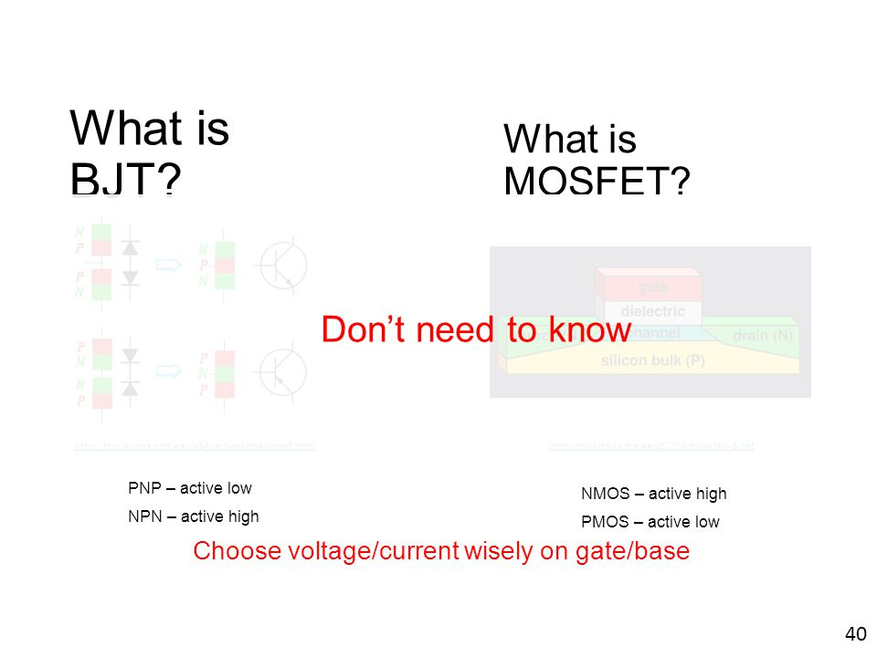 What is BJT What is MOSFET Don't need to know