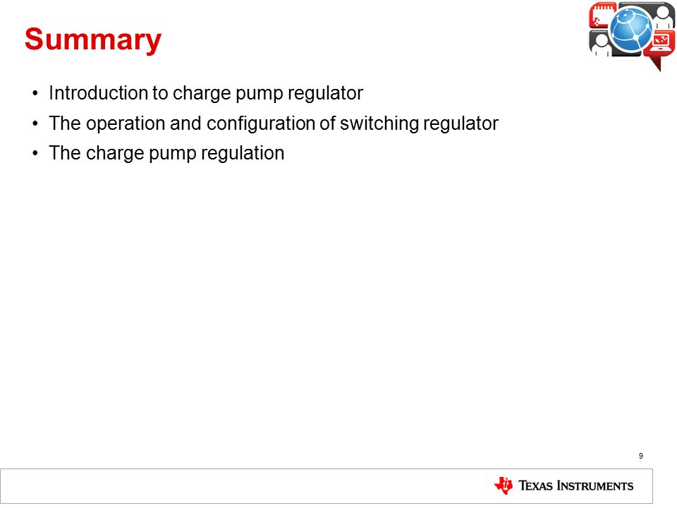 Summary Introduction to charge pump regulator