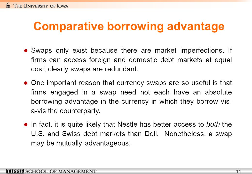 Comparative borrowing advantage