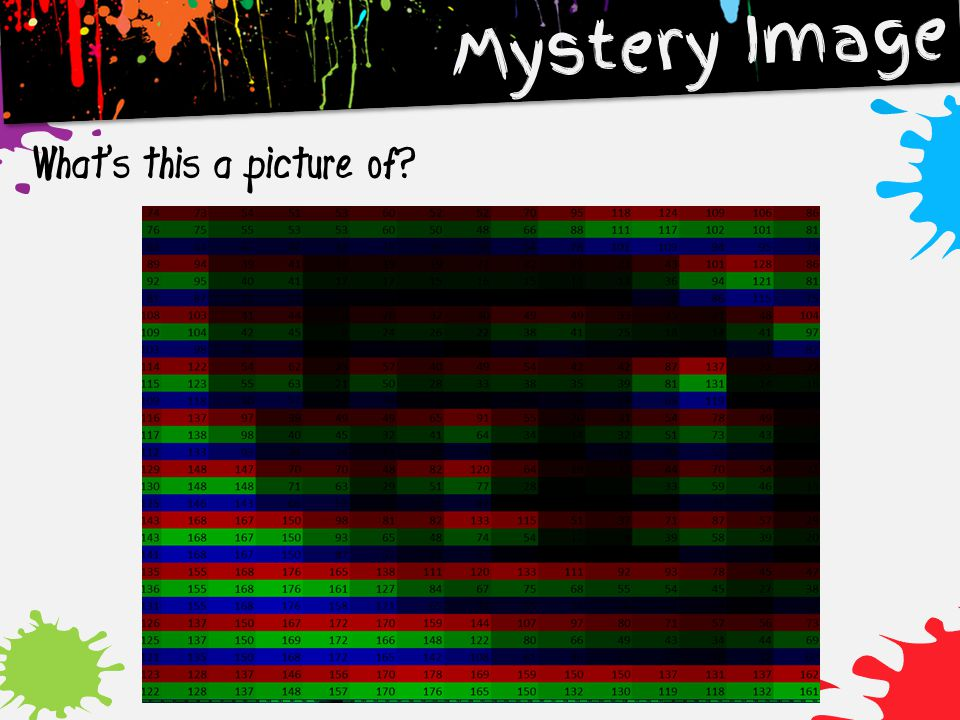 Mystery Image What's this a picture of