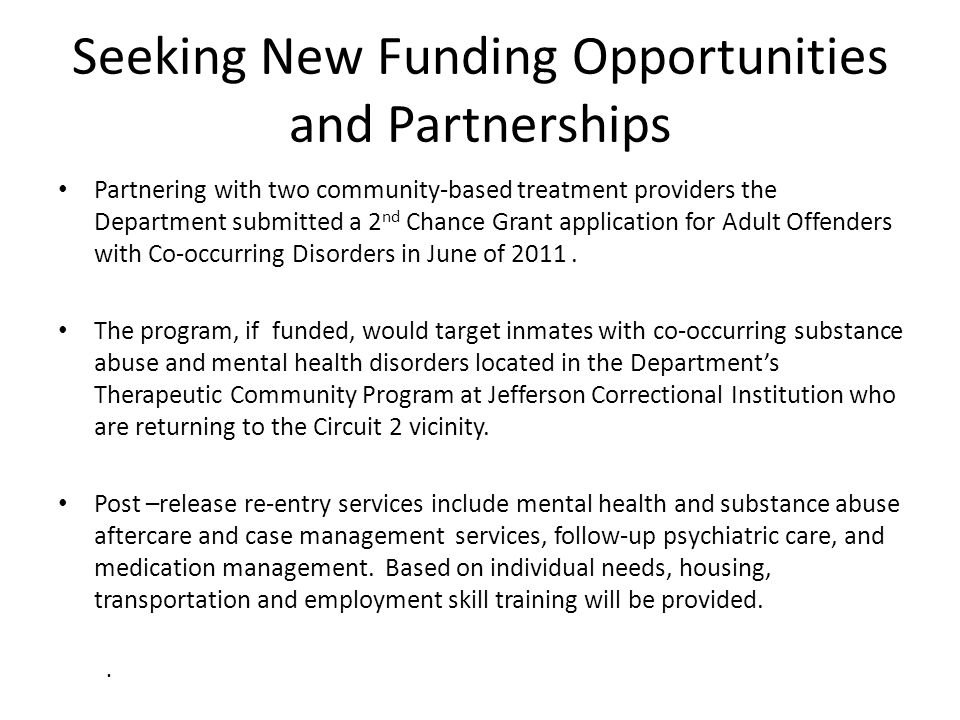 Seeking New Funding Opportunities and Partnerships