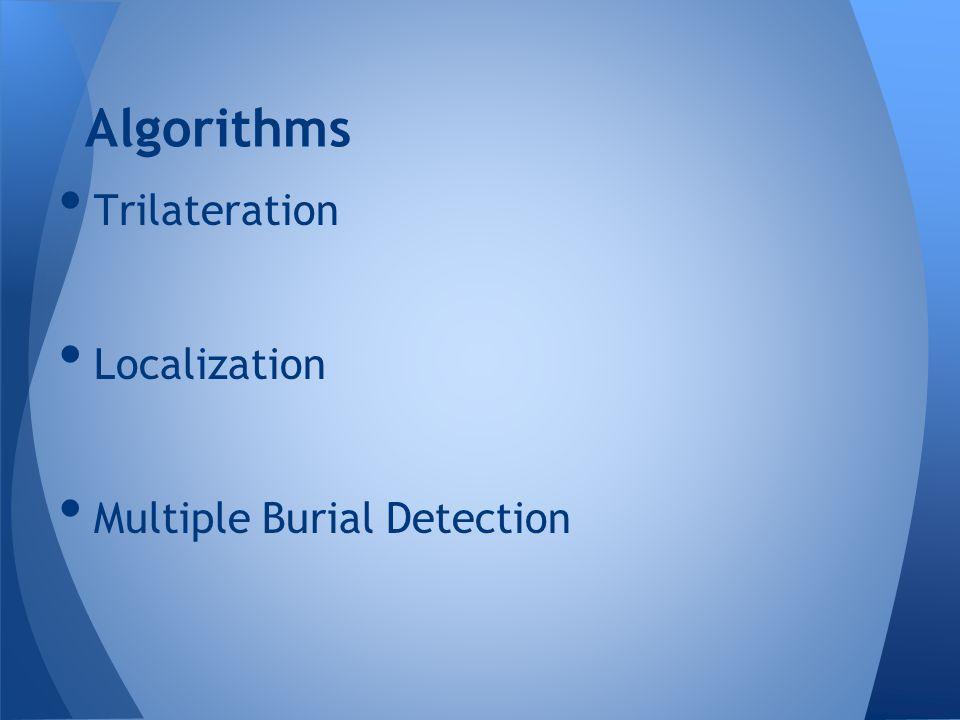 Algorithms Trilateration Localization Multiple Burial Detection