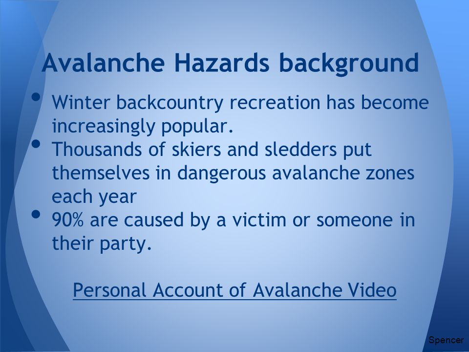 Avalanche Hazards background