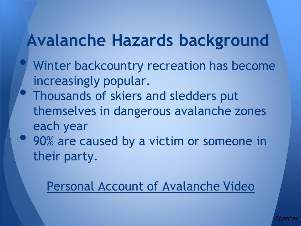 Avalanche Hazards background