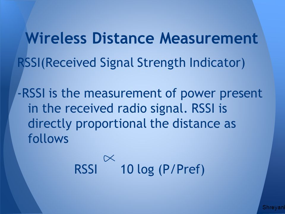 Wireless Distance Measurement