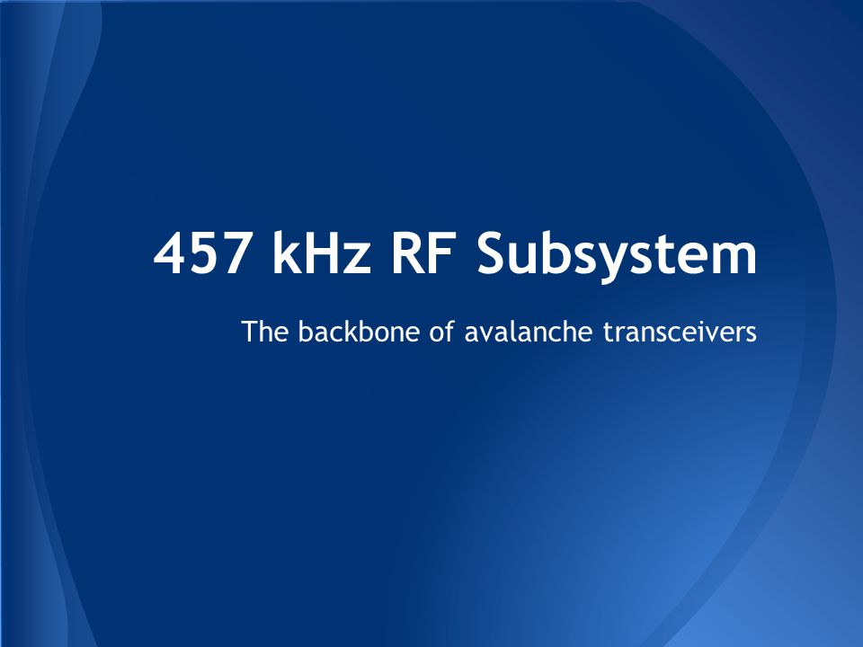 The backbone of avalanche transceivers