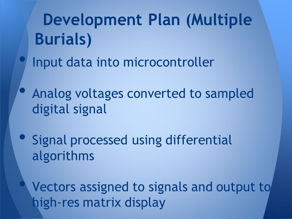 Development Plan (Multiple Burials)