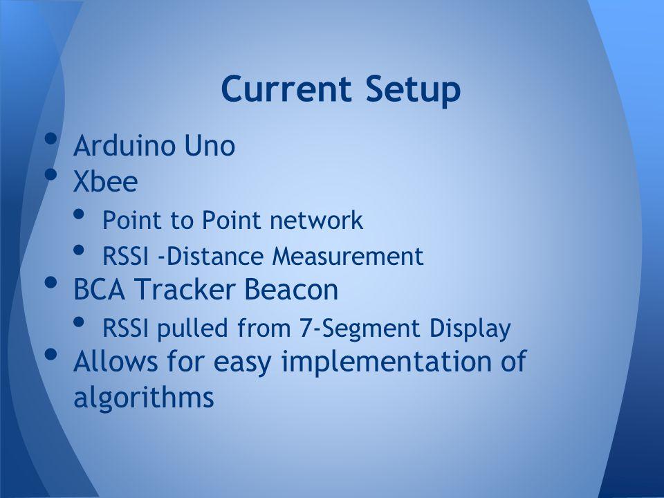 Current Setup Arduino Uno Xbee BCA Tracker Beacon