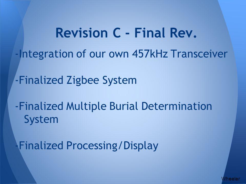 Revision C - Final Rev. -Integration of our own 457kHz Transceiver