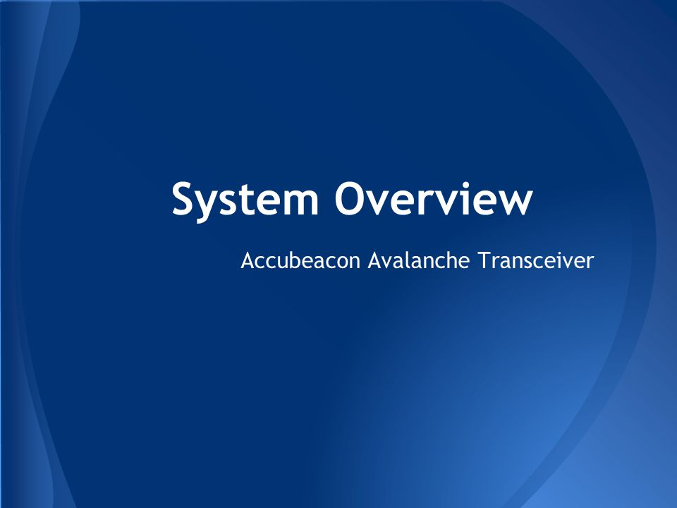 Accubeacon Avalanche Transceiver