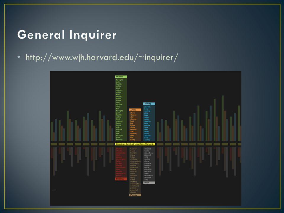 General Inquirer http://www.wjh.harvard.edu/~inquirer/