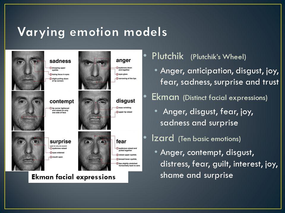 Varying emotion models