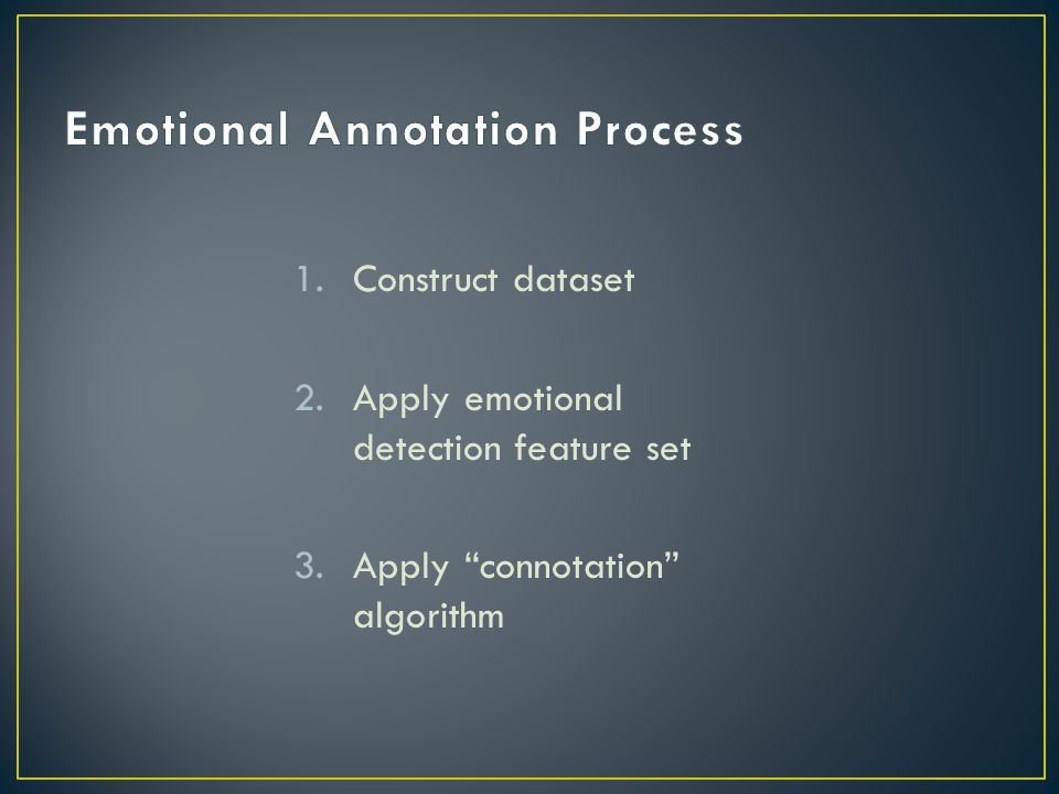 Emotional Annotation Process