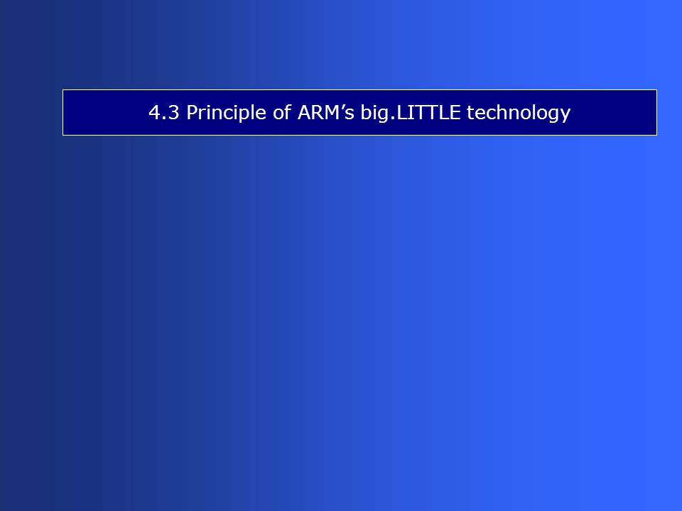 4.3 Principle of ARM's big.LITTLE technology