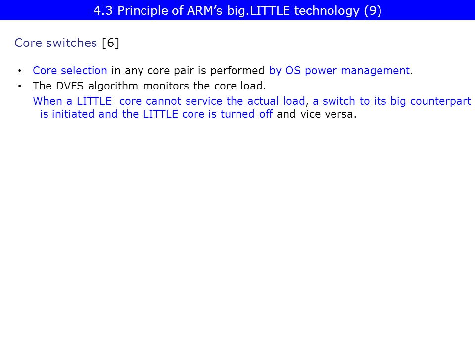 4.3 Principle of ARM's big.LITTLE technology (9)