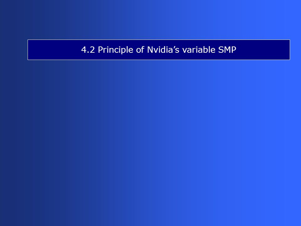 4.2 Principle of Nvidia's variable SMP
