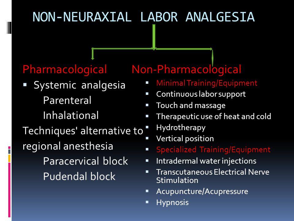 NON-NEURAXIAL LABOR ANALGESIA