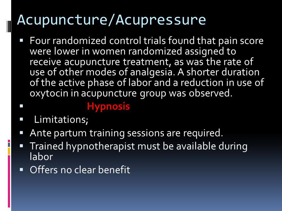 Acupuncture/Acupressure