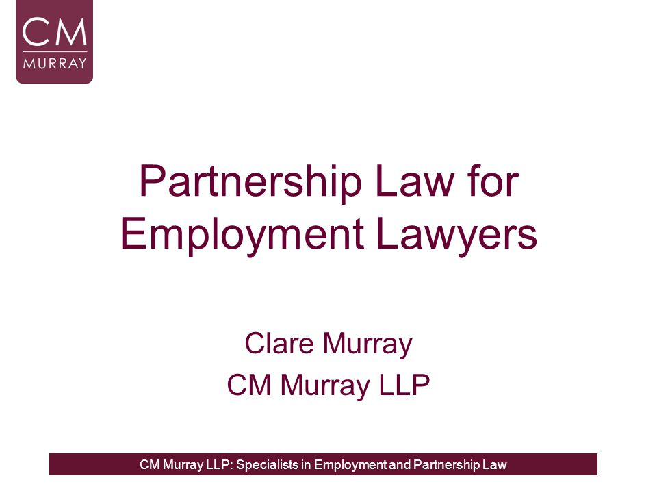 Partnership Law for Employment Lawyers