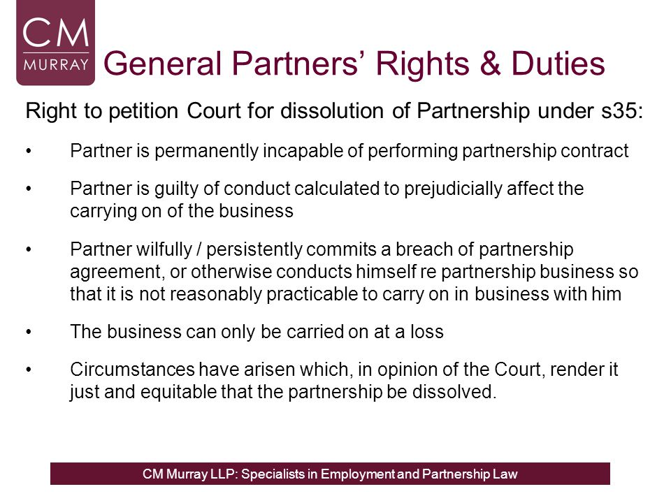 Partnership Law for Employment Lawyers ppt download