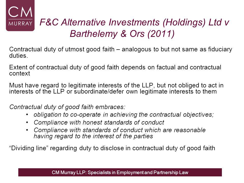 F&C Alternative Investments (Holdings) Ltd v Barthelemy & Ors (2011)