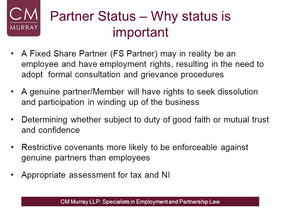 Partner Status – Why status is important