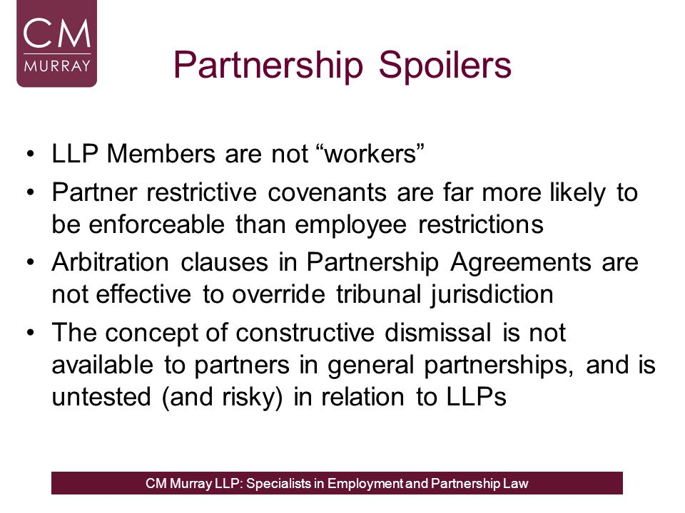 Partnership Spoilers LLP Members are not workers