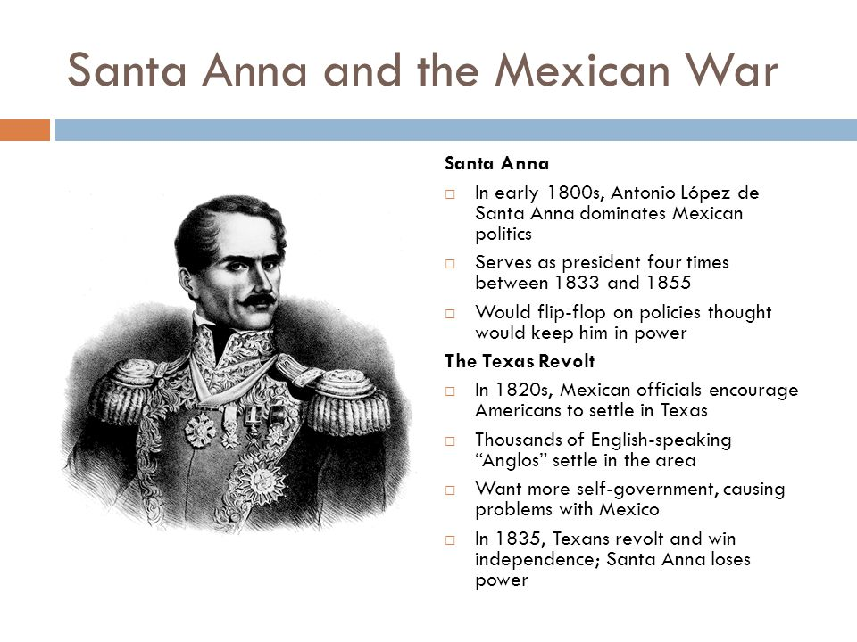 Santa Anna and the Mexican War