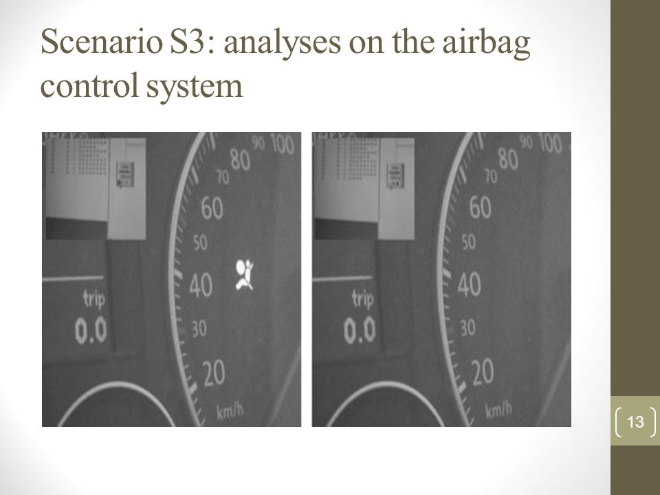 Scenario S3: analyses on the airbag control system