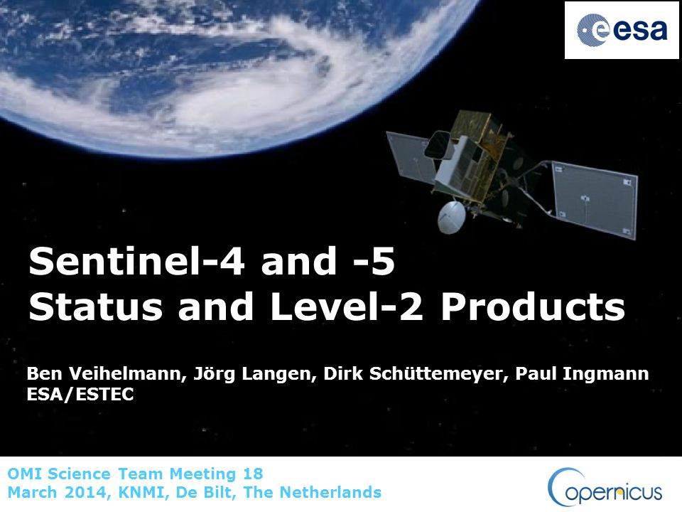 Sentinel-4 and -5 Status and Level-2 Products
