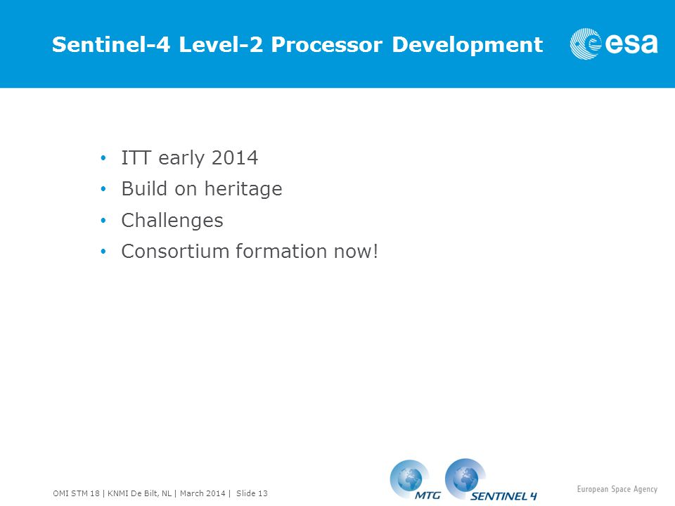 Sentinel-4 Level-2 Processor Development