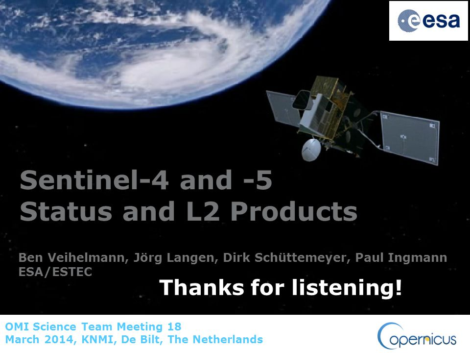 Sentinel-4 and -5 Status and L2 Products