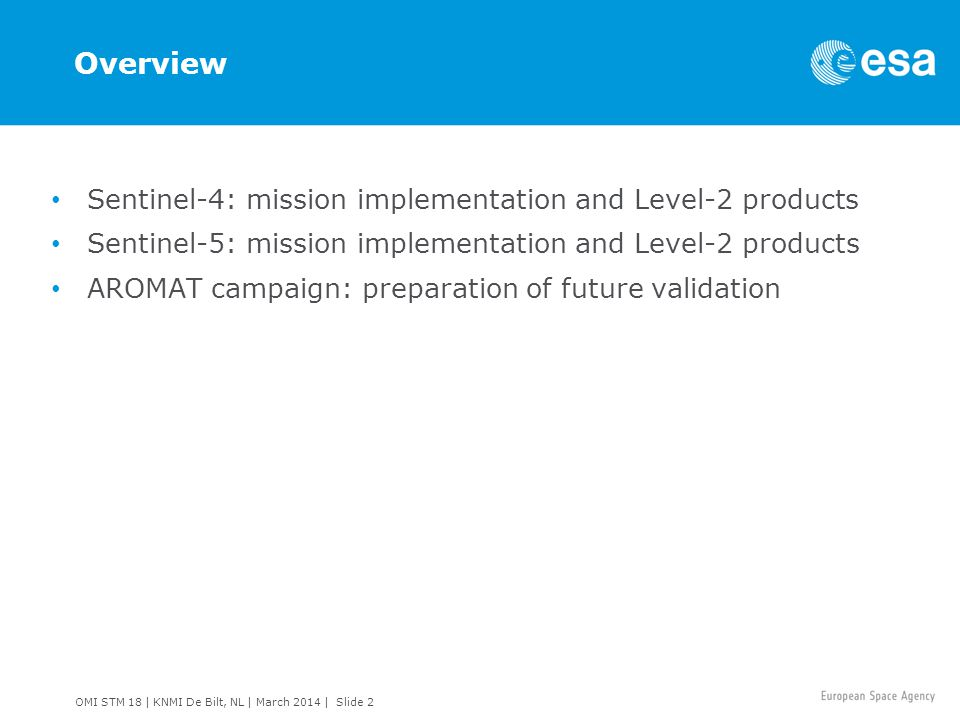 Overview Sentinel-4: mission implementation and Level-2 products