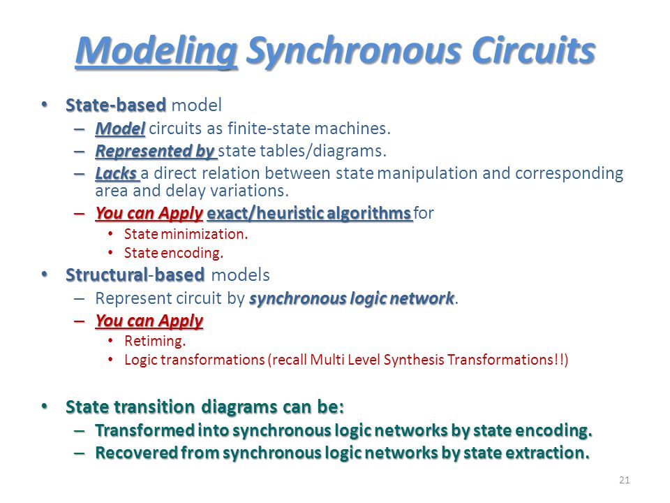 Modeling Synchronous Circuits