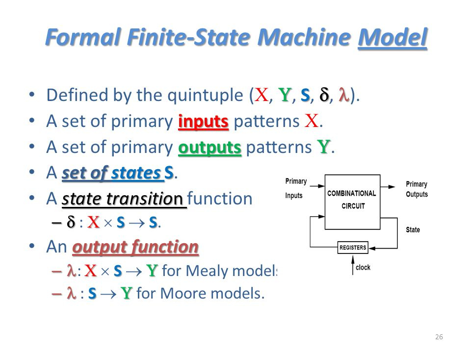 Formal Finite-State Machine Model
