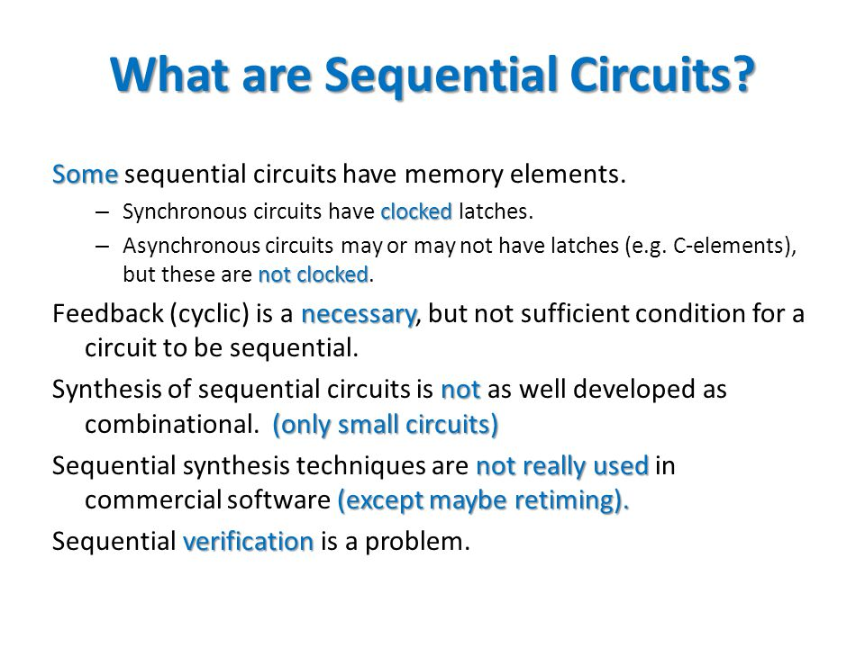What are Sequential Circuits