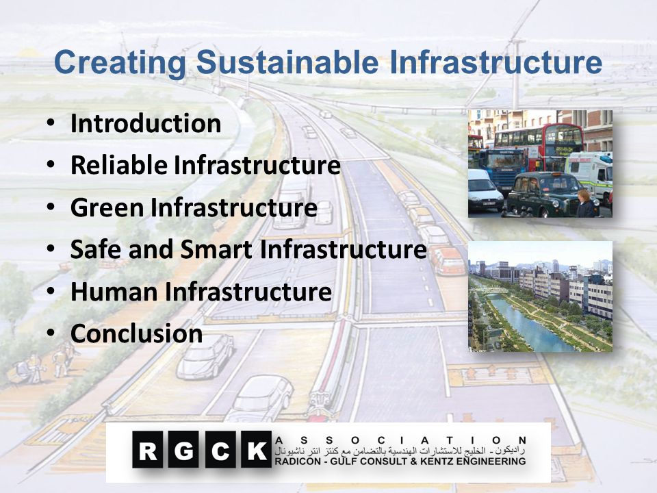 Creating Sustainable Infrastructure