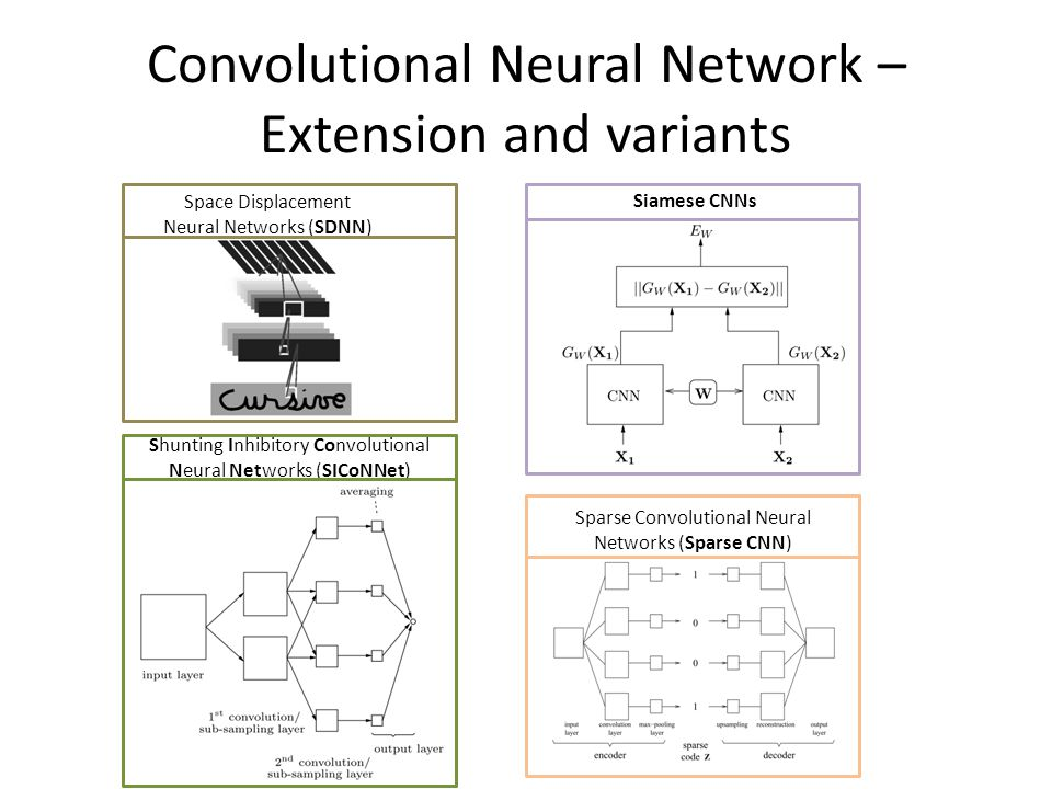 Convolutional Neural Network – Extension and variants