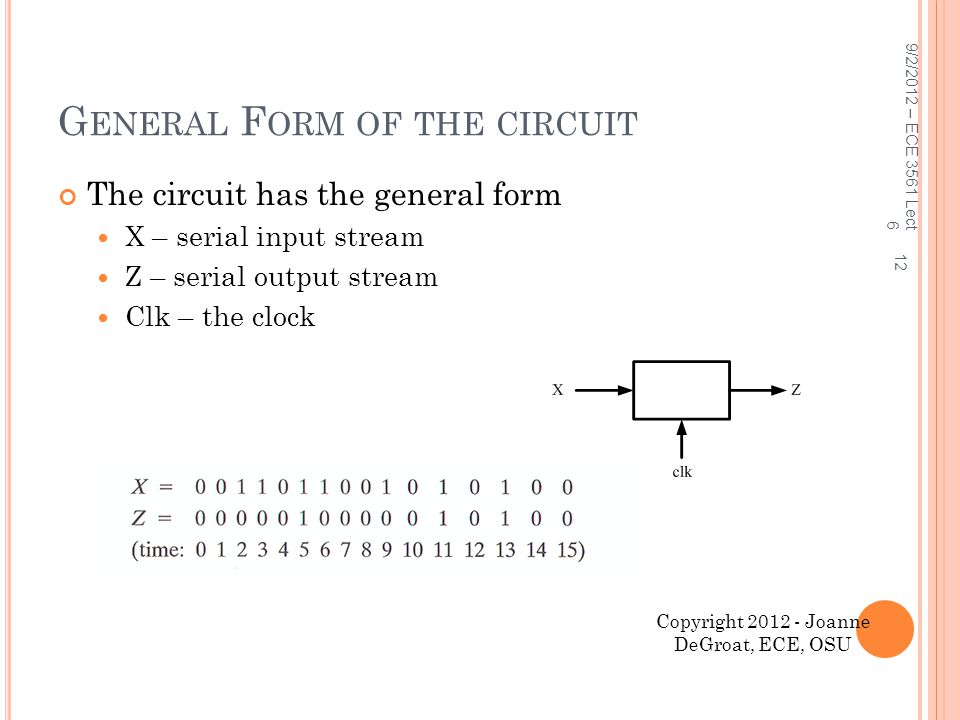 General Form of the circuit