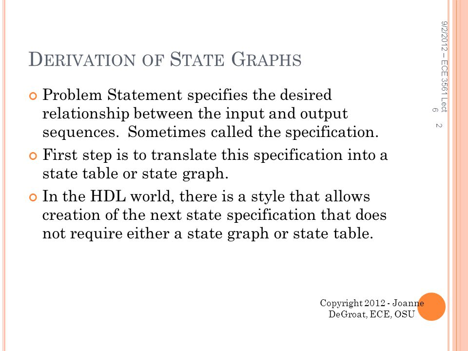Derivation of State Graphs