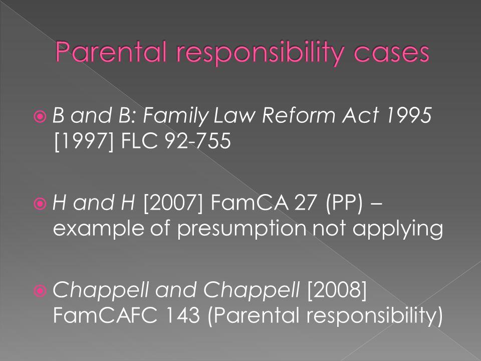Parental responsibility cases
