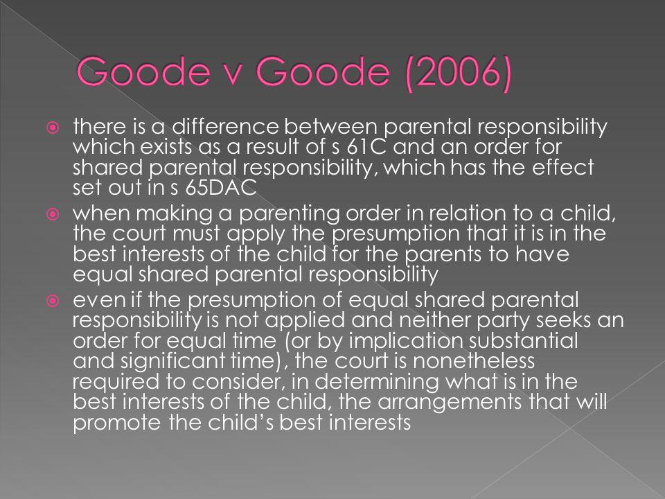 Goode v Goode (2006)